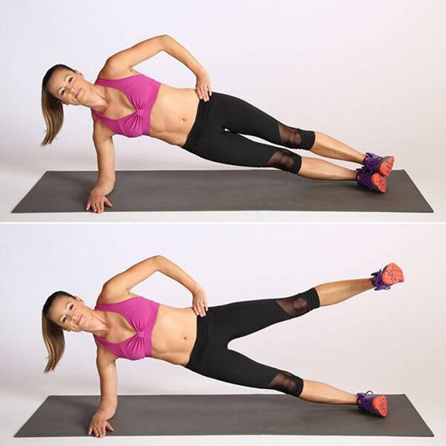 Bài tập Plank bên nâng chân