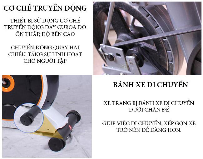 Xe đạp tập phục hồi chức năng có ghế tựa lưng d853