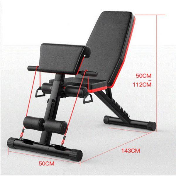 Kích thước lắp đặt ghế tập gym P189