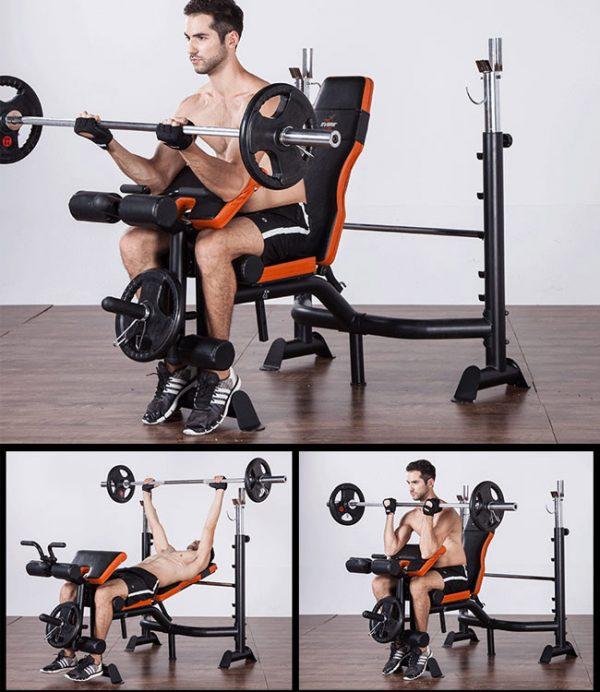 Bài tập với ghế tập gym đa năng GM 4380