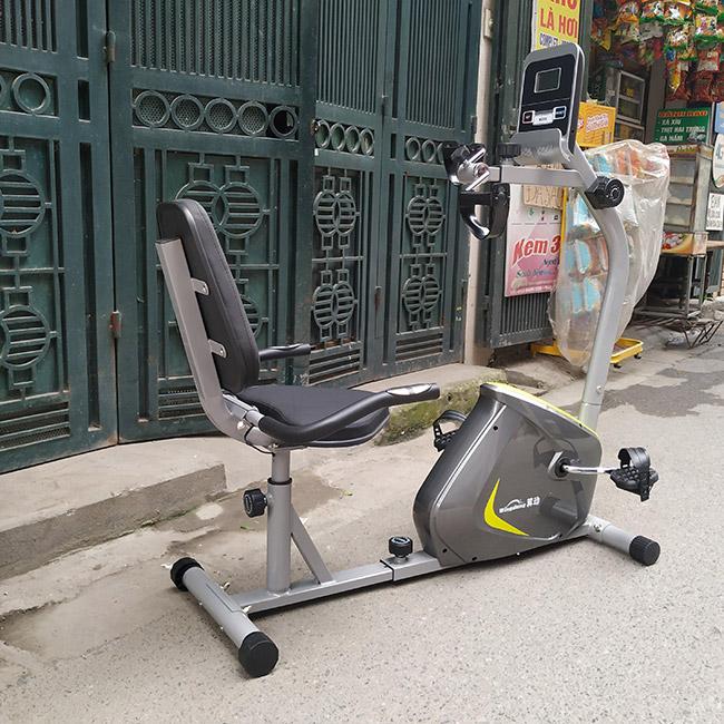 Hình ảnh thực tế xe đạp tập có ghế tựa lưng YD-656