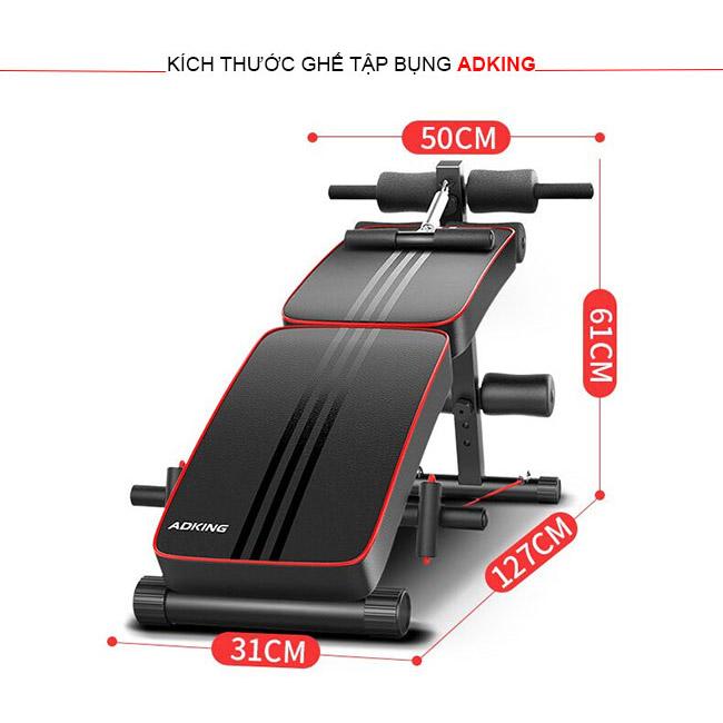 Kích thước đặt đặt ghế tập bụng AD-178