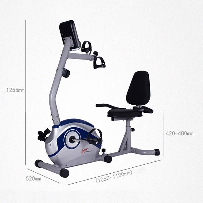 Kích thước lắp đặt xe đạp tập thể dục R7