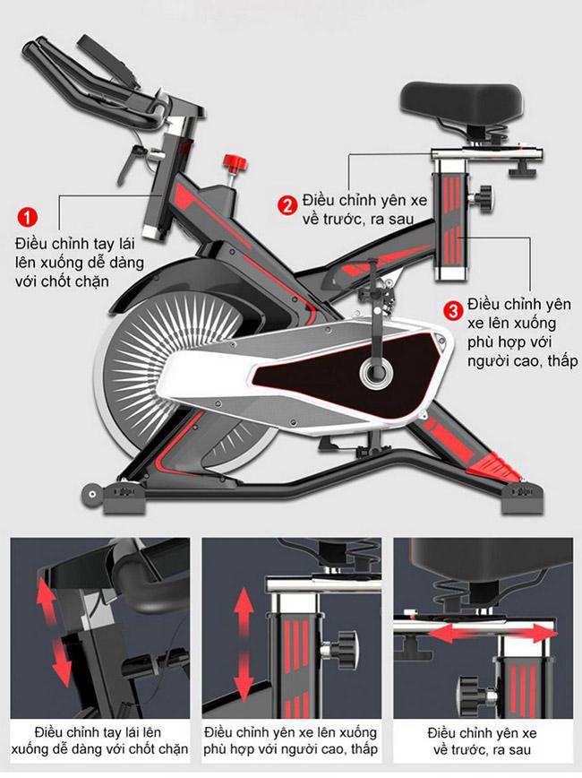 Cấu tạo chi tiết xe đạp tập Fuji Luxury MK-100