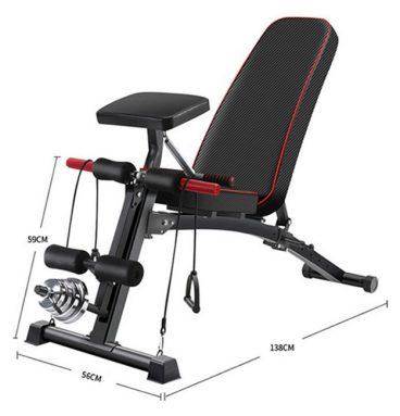 Kích thước lắp đặt ghế tập gym KK 021D