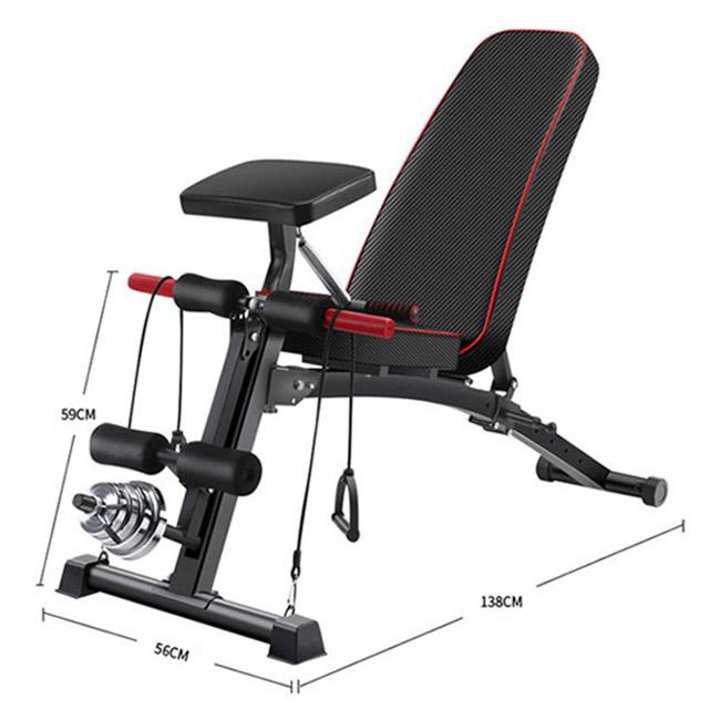 Kích thước lắp đặt ghế tập gym KK-021D