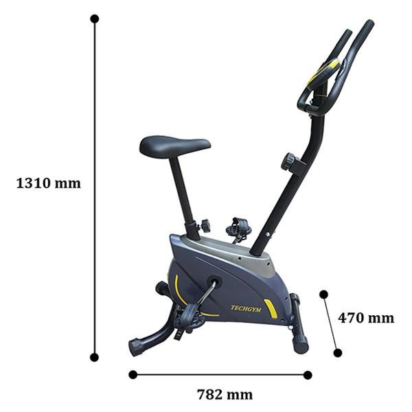 Kích thước lắp đặt xe đạp Techgym HQ-02