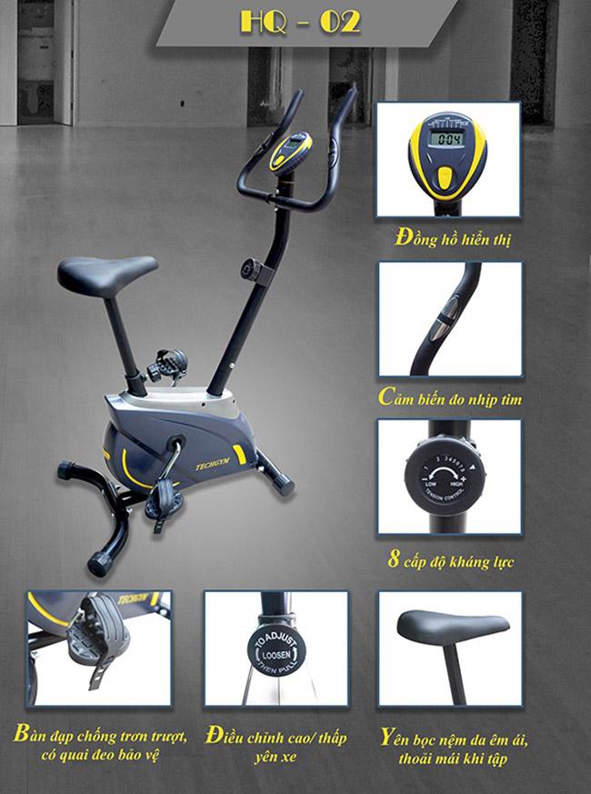 Chi tiết xe đạp tập thể dục Techgym HQ-02