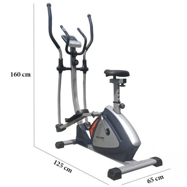 Kích thước lắp đặt xe đạp tập thể dục Pro 168