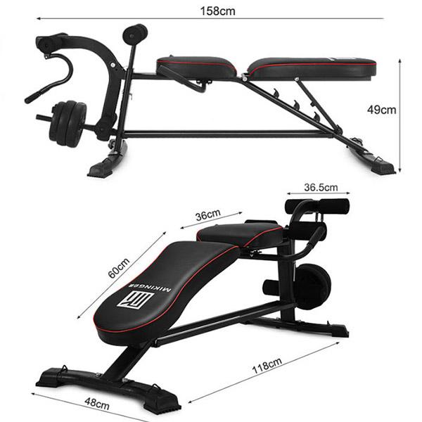 Kích thước lắp đặt ghế tập gym miking MK-031